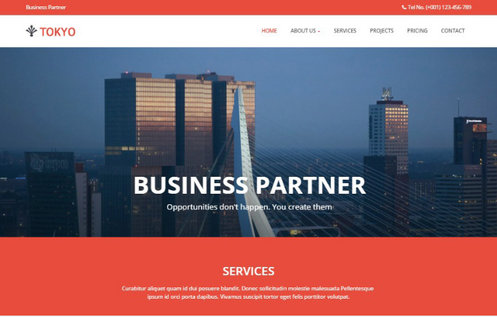 Tokyo Bootstrap Corporate Business Web Template