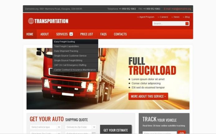 Best Transportation PSD Design Templates