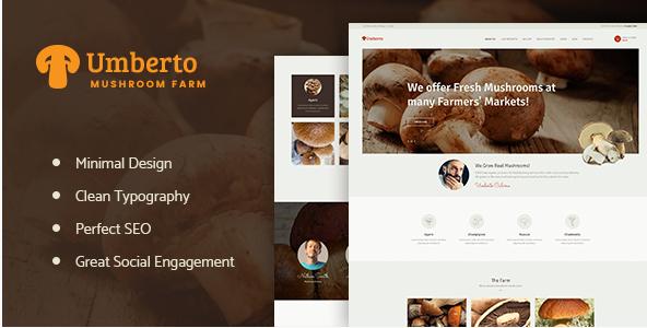 Umberto - Mushroom Farm & Organic Products Store WP Theme