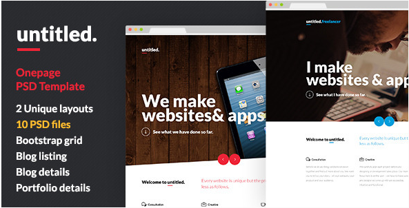 Untitled - Onepage Parallax PSD Template