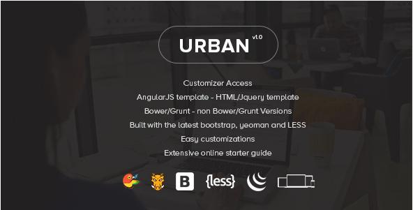 Urban - Responsive Admin panel Template + Customizer Access