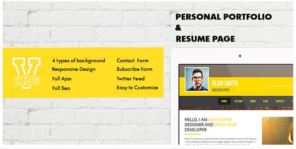 V-king . Personal Portfolio & Resume Page