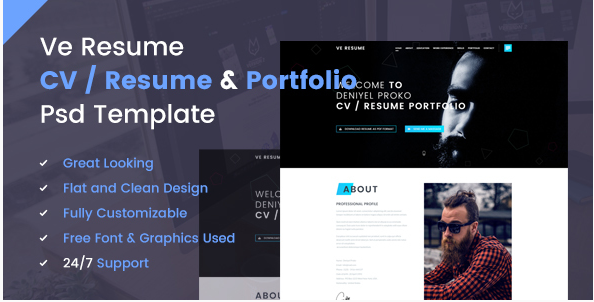 Best Resume PSD Design Templates