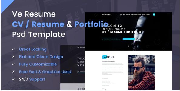 Best Resume PSD Design Templates