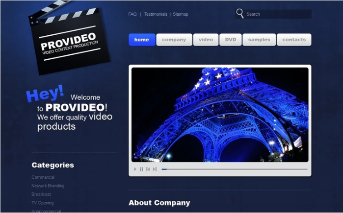 Best Video PSD Design Templates