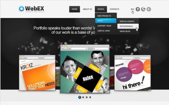 Web Design PSD Template