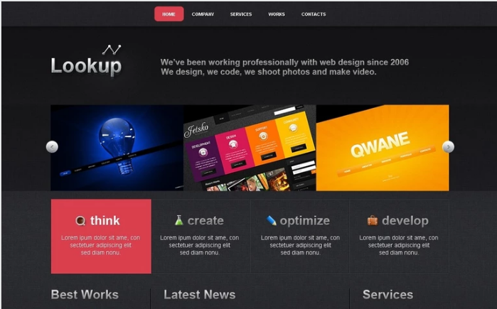 Web Design PSD Template