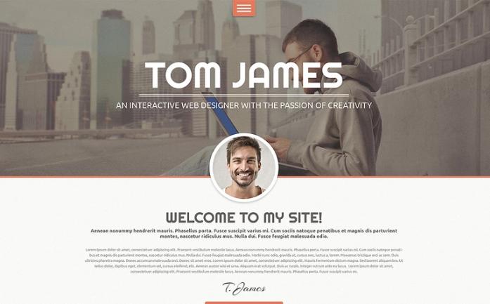 Web Designer CV WordPress Theme