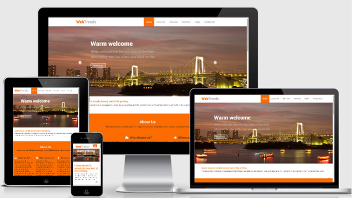 WebTrends Free Bootstrap Responsive web template