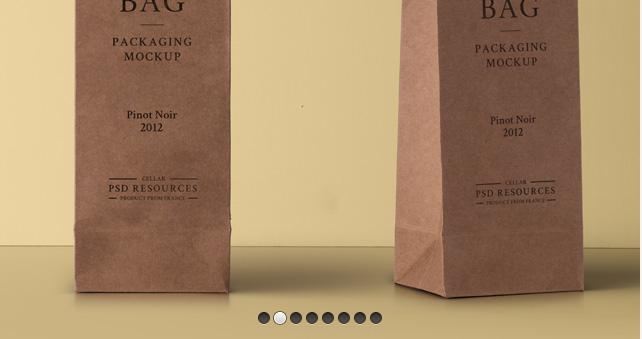 Wine Psd Cardboard Bag