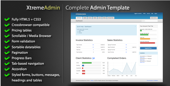 XtremeAdmin - Complete Admin Template