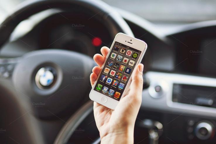 iPhone 5 Car Mockup