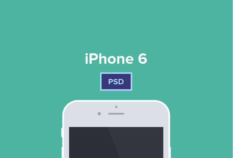 iPhone 6 & 6 Plus Free PSD Mockup