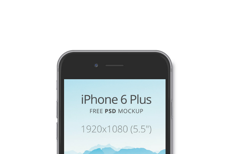 iPhone 6 Plus Free PSD Mockup