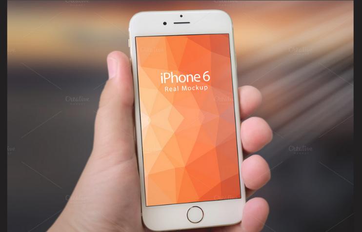 iPhone 6 Real Mockup