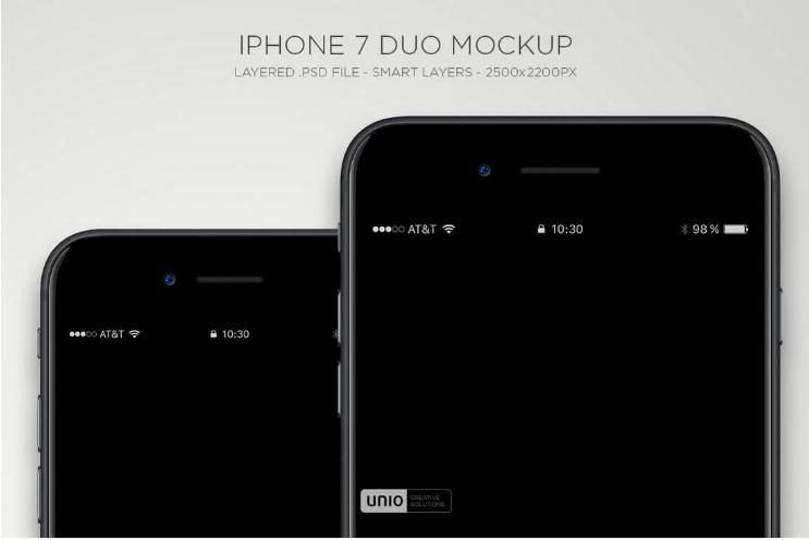 iPhone 7 Duo Mockup