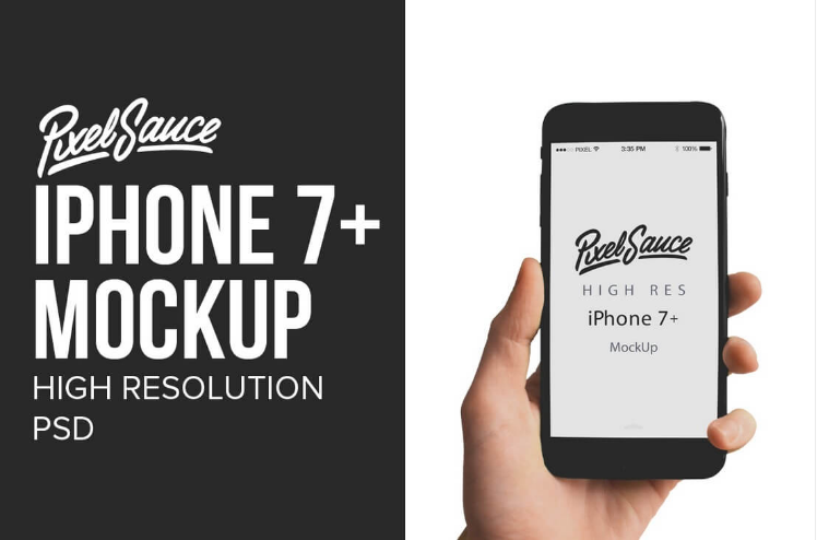 iPhone 7+ Mock Up – High Resolution