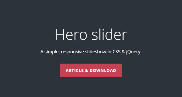 jQuery Hero Slider