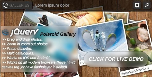 jQuery Polaroid Gallery Plugin