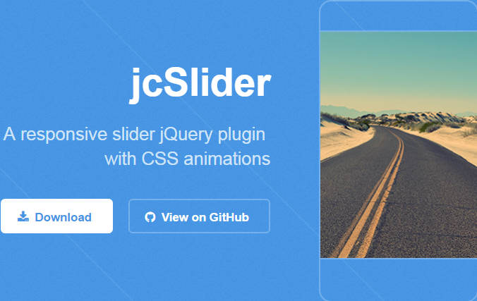 jcSlider jQuery Responsive Slider with CSS Animations