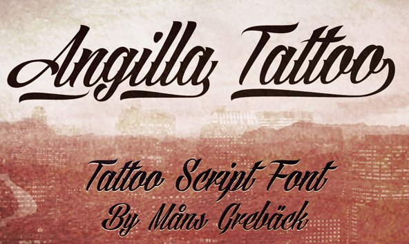 Top Free Tattoo Fonts