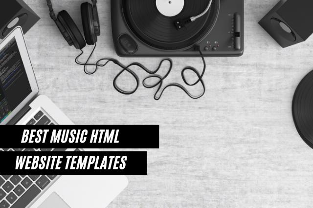 Best Music HTML Website Templates