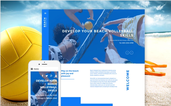 Beach Volleyball Club Joomla Template