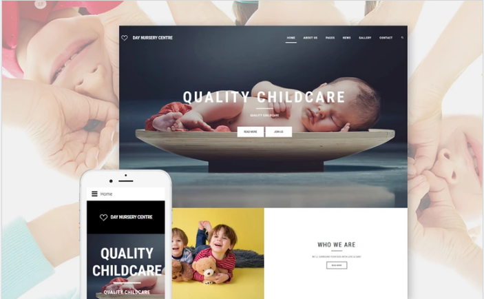 Day Nursery Center - Child care & Babysitter Responsive Joomla Template
