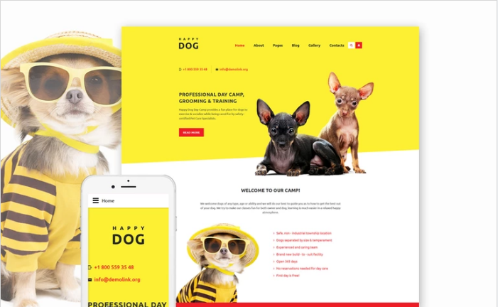 Happy Dog Joomla Template