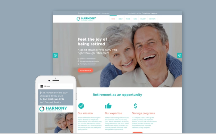 Harmony - Retirement Planning Joomla Template