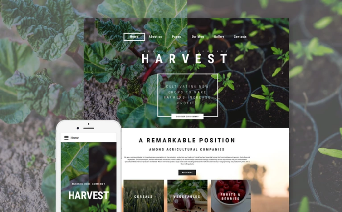 Harvest - Agriculture company Joomla Template