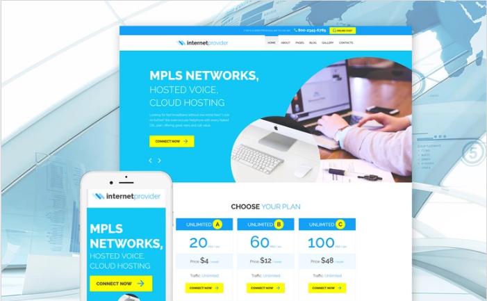 Internet Provider Joomla Template