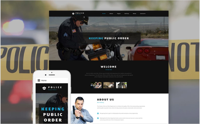 Police Department Joomla Template