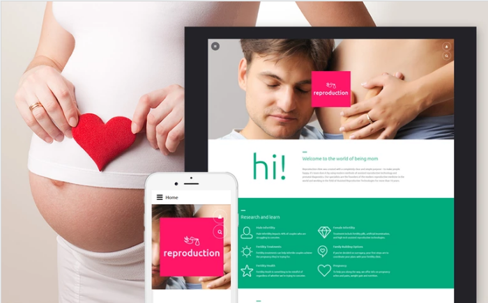 Reproduction Clinic Responsive Joomla Template