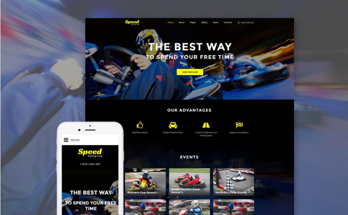 Speed - Karting Club Responsive Joomla Template