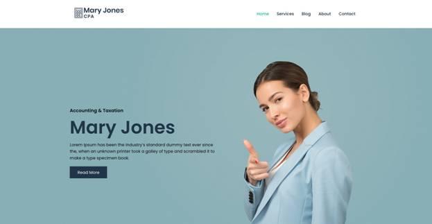 WordPress Accountant Template