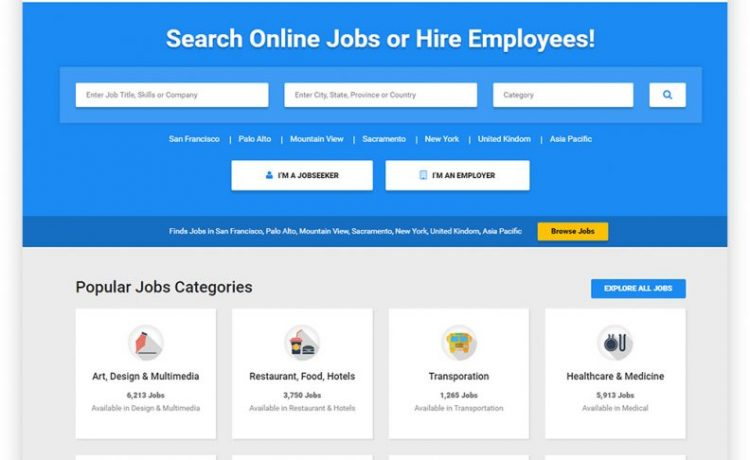 Job Board HTML Website Templates