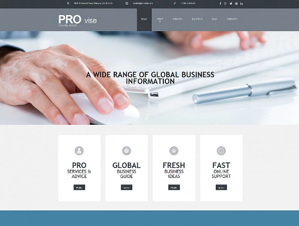Financial Moto CMS Templates