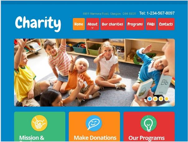 Charity Moto CMS Templates