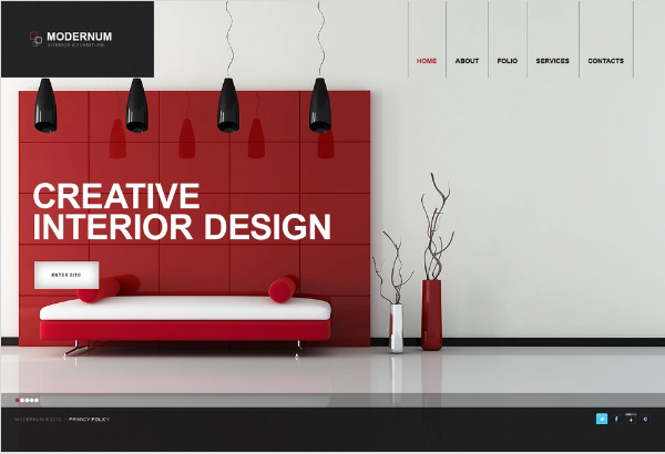 Moto CMS Interior Design Templates