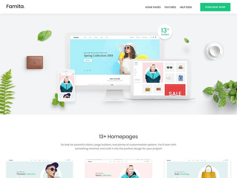 Famita Minimalist WordPress Themes