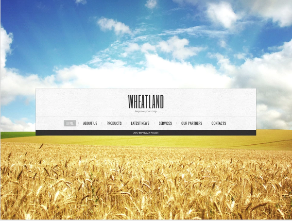 Agriculture Moto CMS Templates
