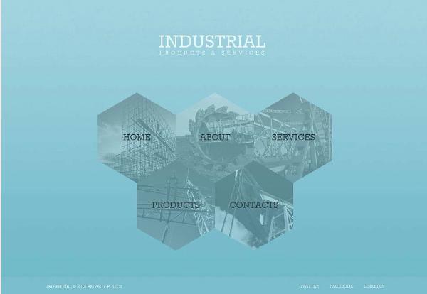 Industrial Moto CMS Templates