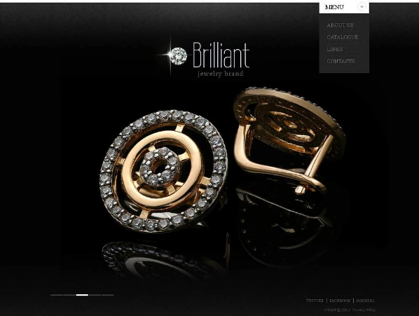 Jewellery Moto CMS Templates
