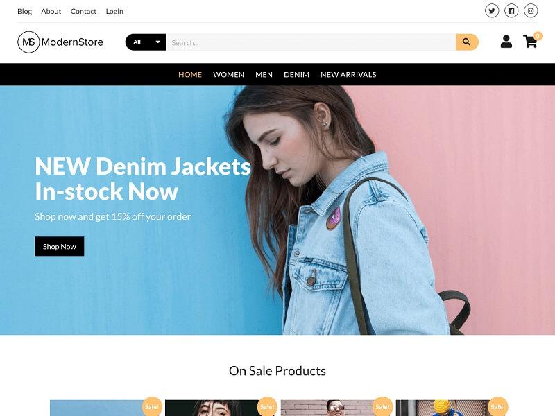 Modern Store Ecommerce WordPress Themes