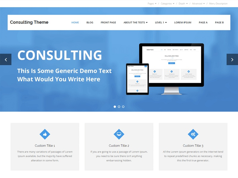 Consulting Free WordPress Themes