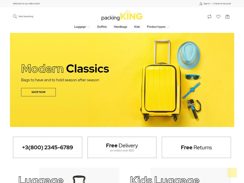 PackingKing Best Magento Themes