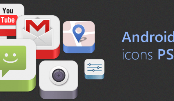 Free Download Android Icons PSD