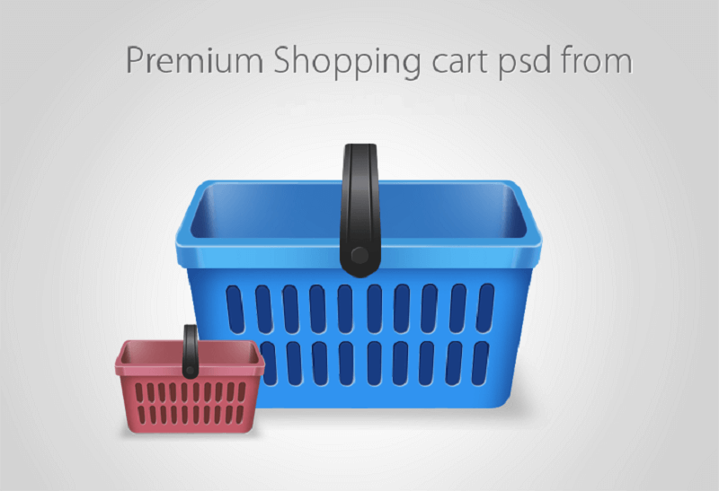 Beautiful Free Shopping Cart Icon PSD