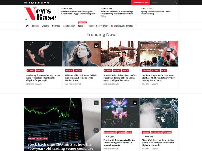 News Base Free Newspaper WordPress Theme